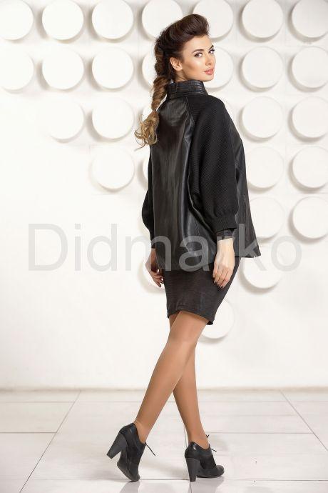 Кожаная куртка с трикотажными рукавами. Фото 4.