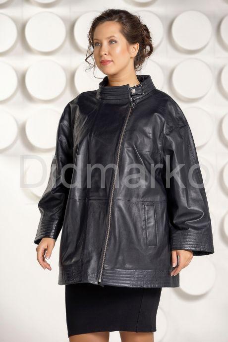 Классическая кожаная куртка больших размеров для женщин. Фото 2.