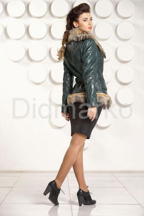 Кожаная куртка с мехом волка. Фото 4.
