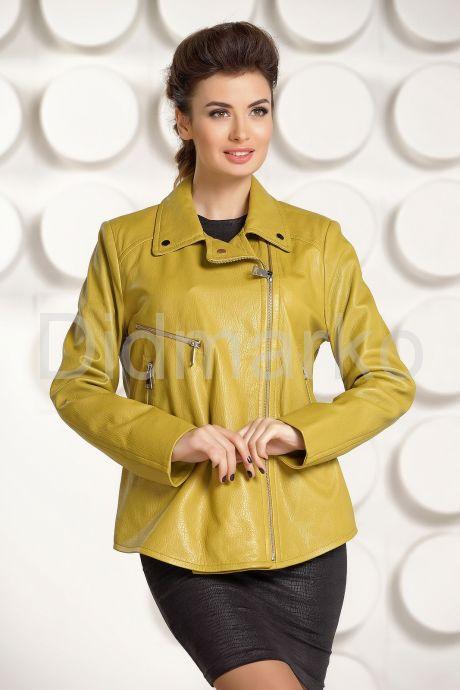 Короткая кожаная куртка  Милан. Фото 2.