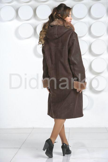 Европейская дубленка коричневого цвета. Фото 5.
