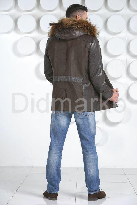 Мужская приталенная дубленка. Фото 4.