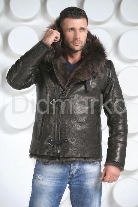 Зимняя мужская кожаная куртка. Фото 6.