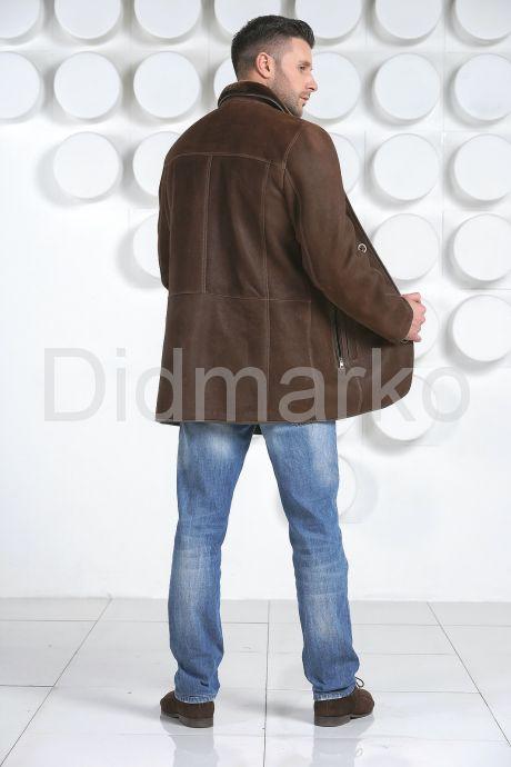 Мужская дубленка коричневого цвета. Фото 5.