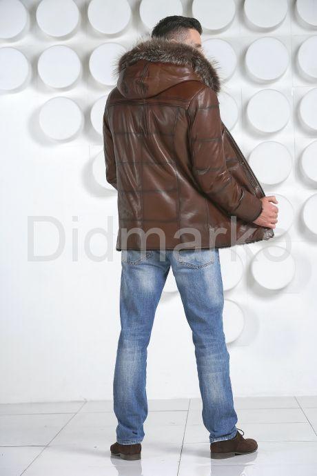 Удлиненная мужская дубленка. Фото 4.