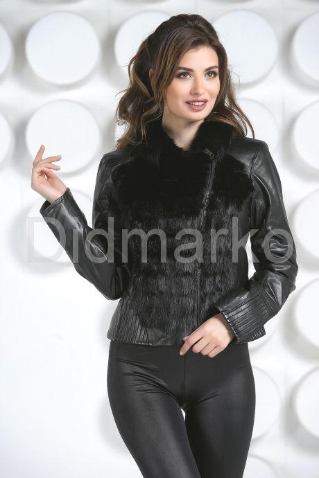 Кожаная куртка с мехом норки. Фото 2.