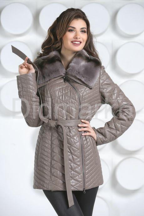 Стеганая кожаная куртка. Фото 2.