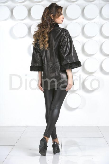 Кожаная куртка с укороченными рукавами. Фото 4.
