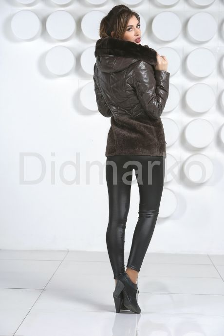 Теплая куртка шоколадного цвета. Фото 4.