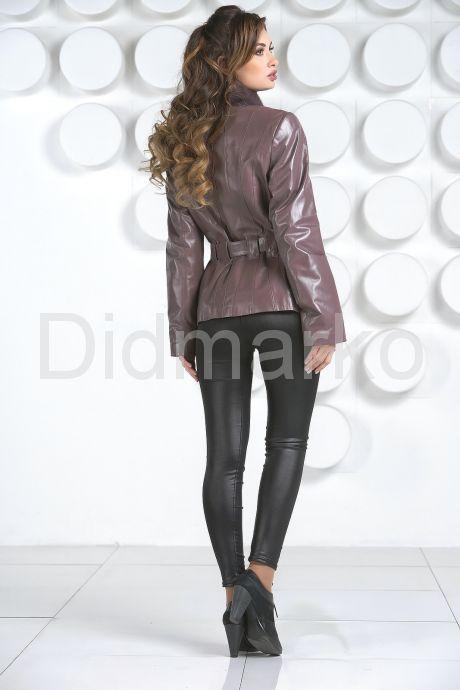 Кожаная куртка с мехом норки-1. Фото 4.