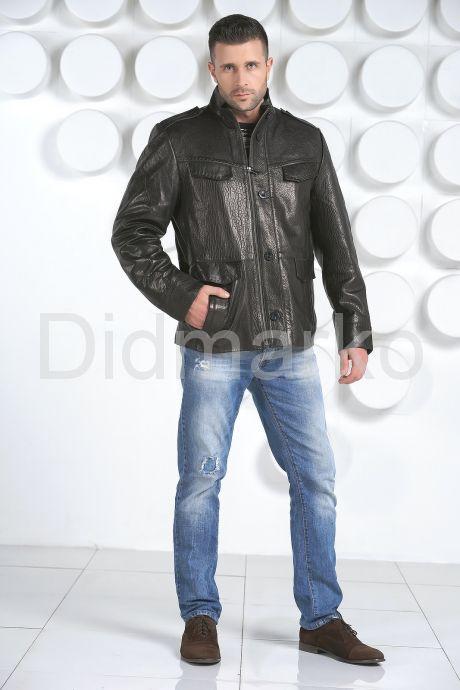"Мужская кожаная куртка в стиле ""милитари"". Фото 9."