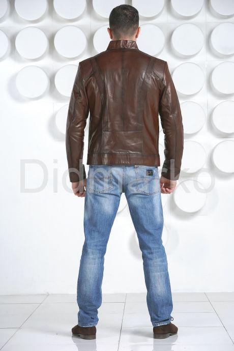Стильная кожаная куртка, артикул DM2409