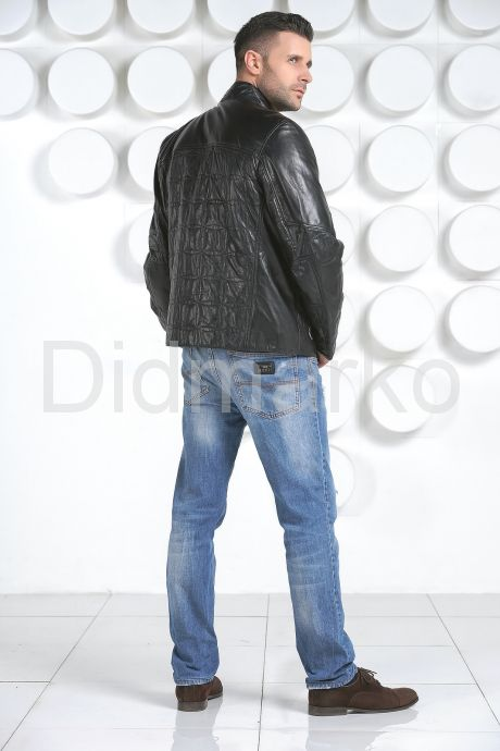 Стеганная кожаная куртка, артикул 900