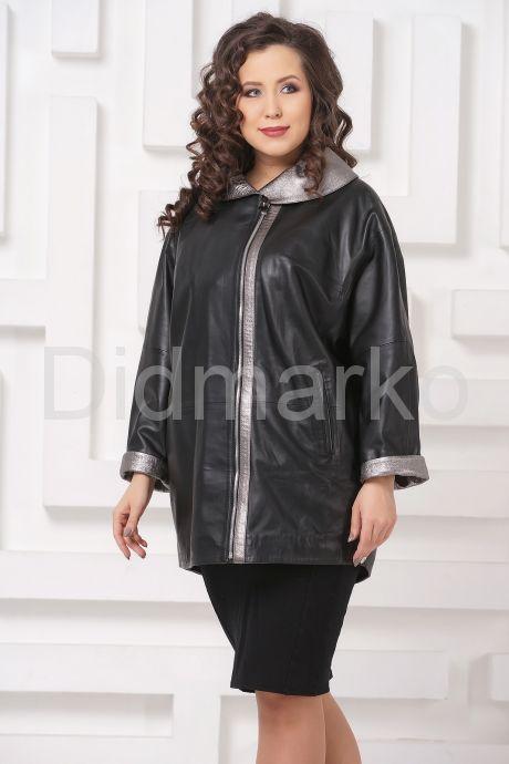 Удлиненная кожаная куртка Мелисса. Фото 4.