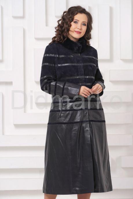 Элегантное кожаное пальто. Фото 4.