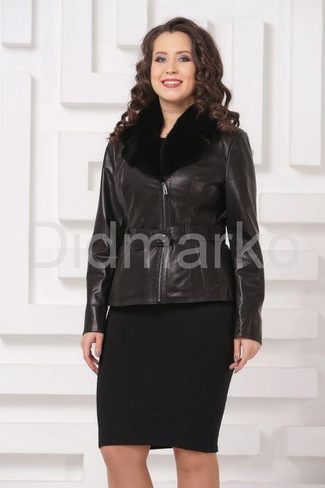 Классическая кожаная куртка с мехом. Фото 3.