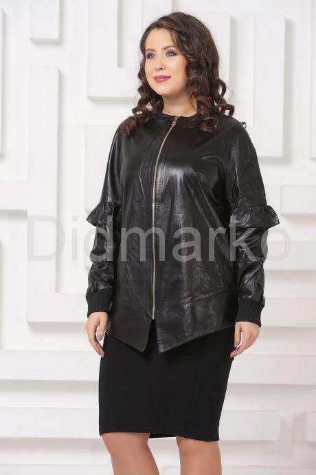 Удлиненная кожаная куртка черного цвета. Фото 4.
