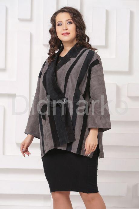 Стильная замшевая куртка DONNA BONITA. Фото 4.