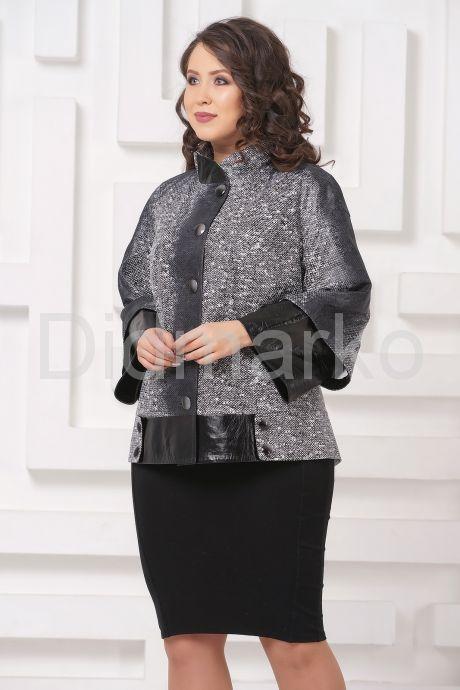 Комбинированная женская куртка из замши. Фото 4.