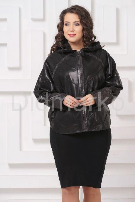 Кожаная куртка летучая мышь черного цвета. Фото 4.