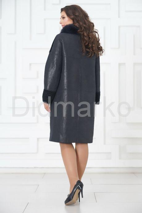 Элегантное пальто из меха овчины. Фото 5.