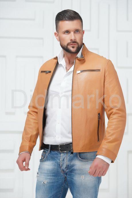 Стильная кожаная куртка на молнии. Фото 2.