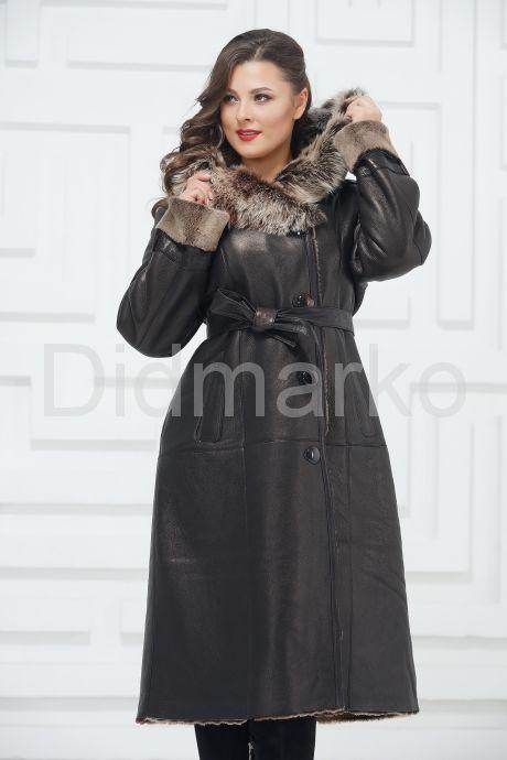 Зимнее пальто из овчины больших размеров. Фото 2.