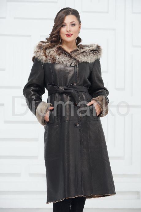 Зимнее пальто из овчины больших размеров. Фото 3.