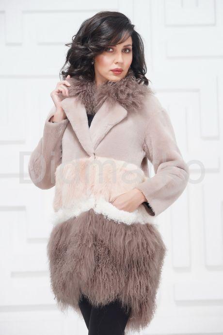 Итальянское пальто из овчины и ламы. Фото 8.