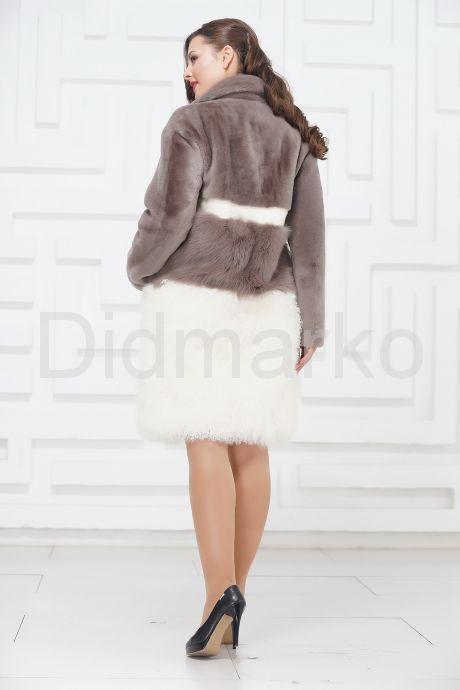 Итальянское пальто из овчины и ламы PUNTO. Фото 4.