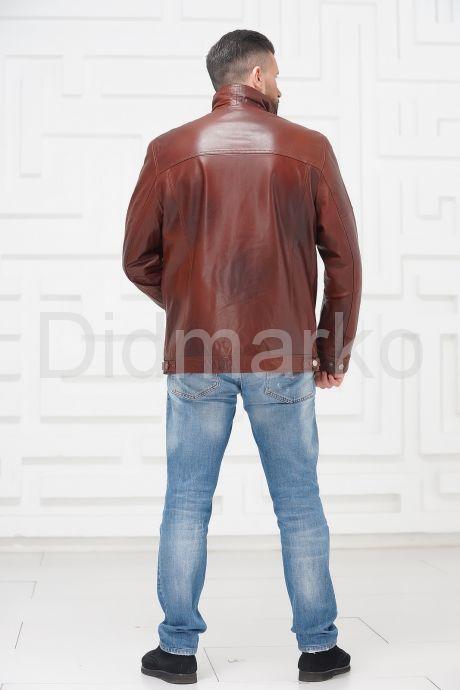 Короткая мужская кожаная куртка больших размеров. Фото 4.