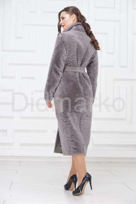 Нежное длинное пальто из овчины. Фото 6.