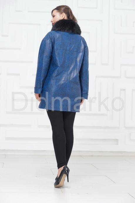 Двубортная кожаная куртка. Фото 4.