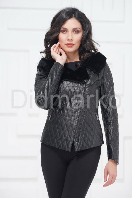 Молодежная кожаная куртка с мехом. Фото 2.