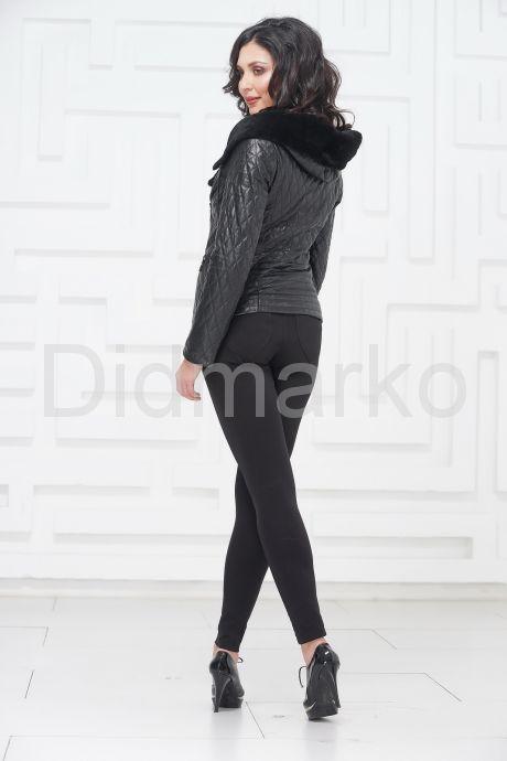 Молодежная кожаная куртка с мехом. Фото 4.