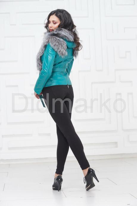 Красивая куртка бирюзового цвета. Фото 4.