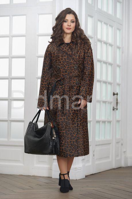 Леопардовое пальто из нерпы женское