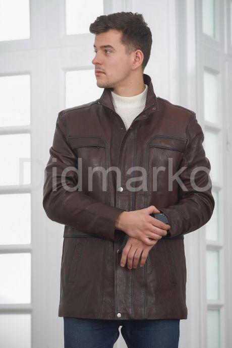 Классическая кожаная куртка для мужчин. Фото 3.