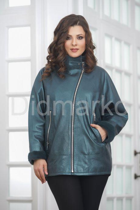 Женская кожаная куртка с мехом. Фото 3.