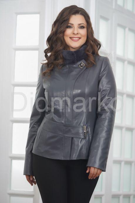 Приталенная кожаная куртка женская. Фото 5.