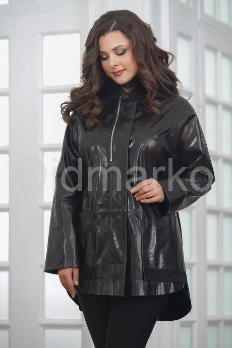 Комбинированная кожаная куртка для милых дам
