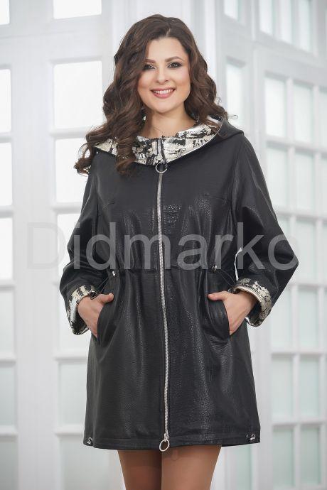 Удлиненная женская кожаная куртка. Фото 6.