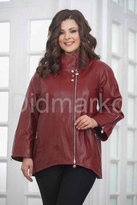 Женская кожаная куртка красивого цвета. Фото 4.