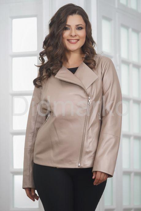 Женская кожаная куртка косуха весна-осень 2019. Фото 5.