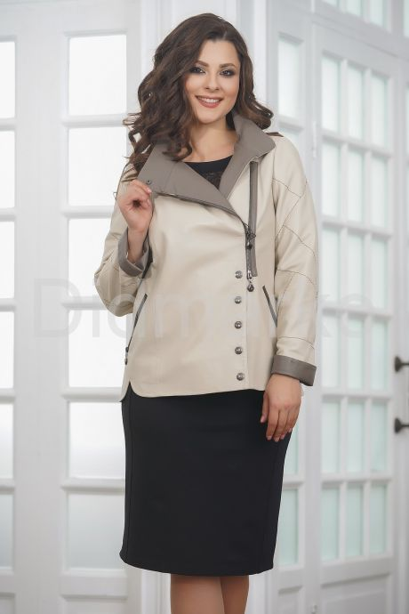 Весенняя удлиненная женская куртка косуха весна- 2019. Фото 5.