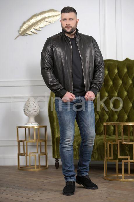 Бомбер кожаный мужской. Фото 3.