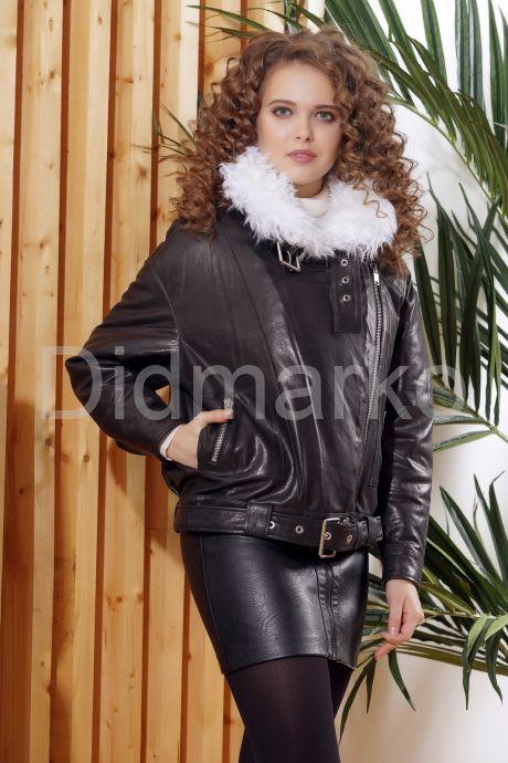Утепленная кожаная куртка с мехом. Фото 4.