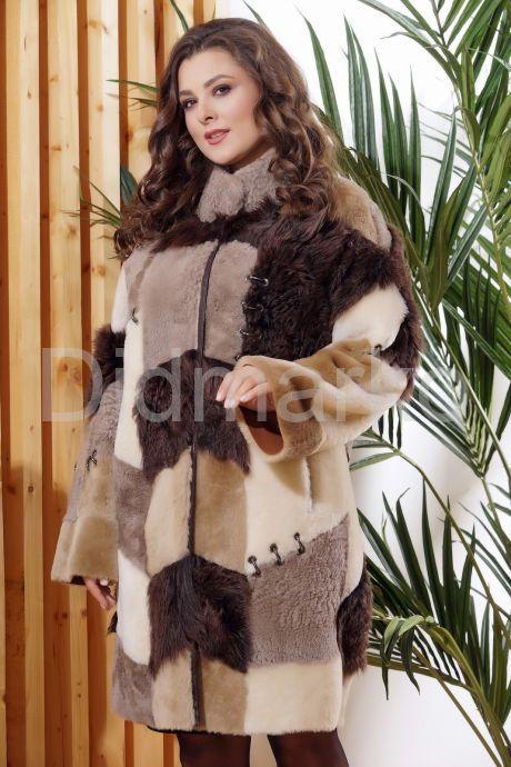Стильное двустороннее пальто в стиле Пэчворк. Фото 7.