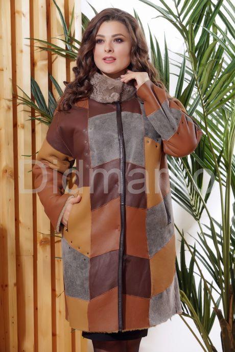 Стильное двустороннее пальто в стиле Пэчворк. Фото 9.