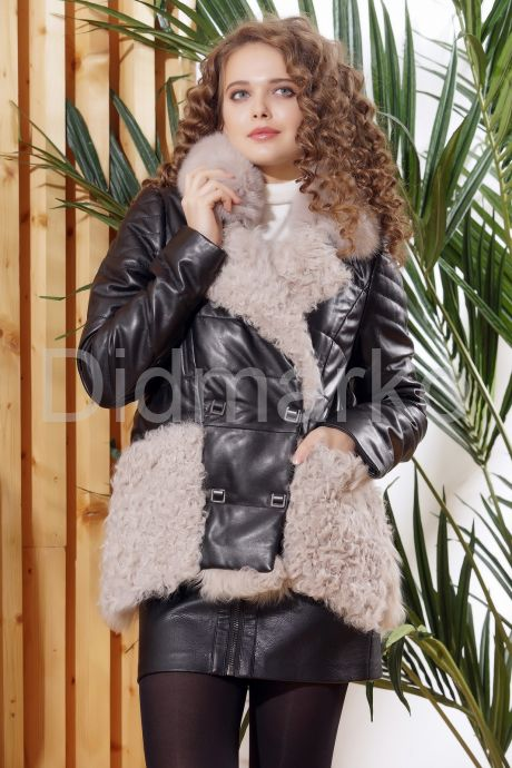 Теплая кожаная куртка автоледи. Фото 5.